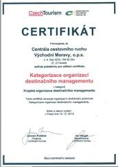 Kategorizace organizací destinačního managementu 2020